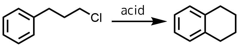 フリーデルクラフツ反応の分子内反応