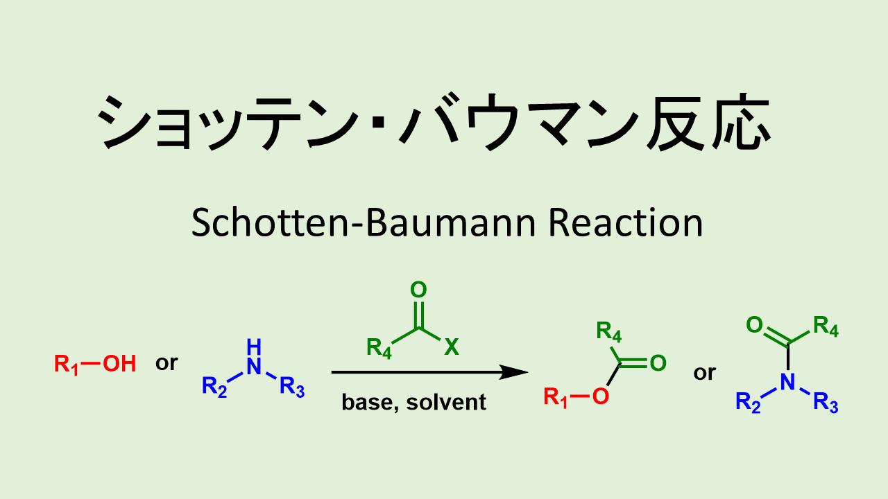 ショッテン バウマン反応: Schotten-Baumann Reaction