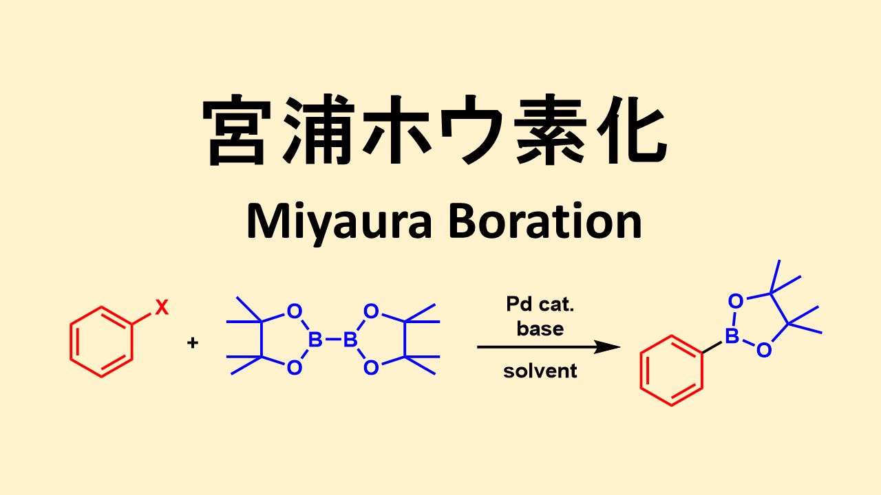 宮浦ホウ素化: Miyaura Borylation