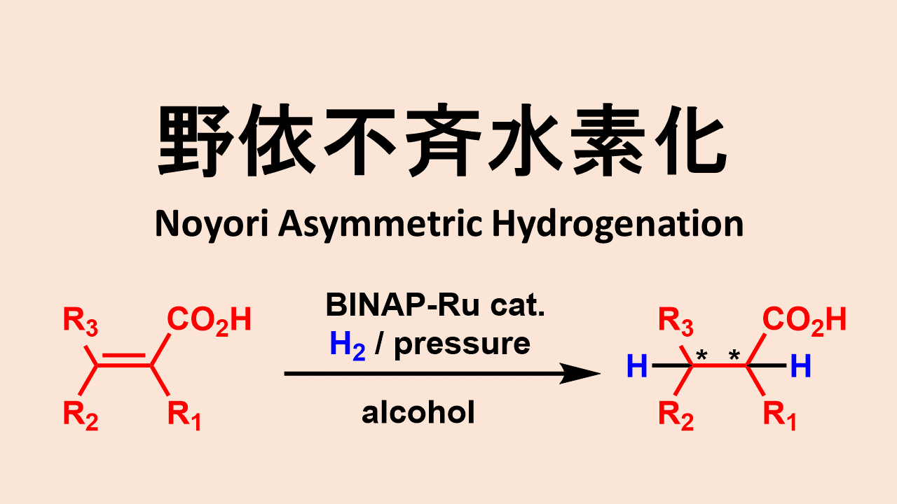 野依不斉水素化: Noyori Assymetric Hydrogenation