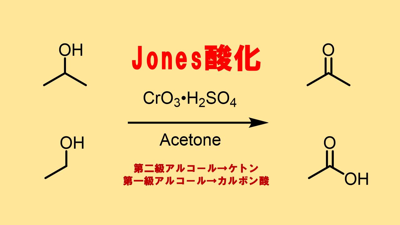 ジョーンズ酸化 (Jones酸化)でアルコールをケトン、カルボン酸に変換!