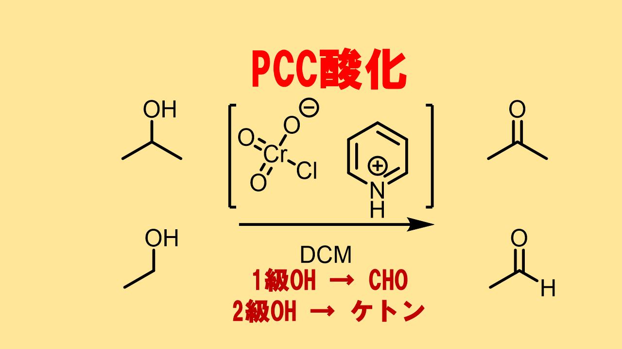 PCC酸化によるアルコールのアルデヒドへの酸化反応 PDCとの比較