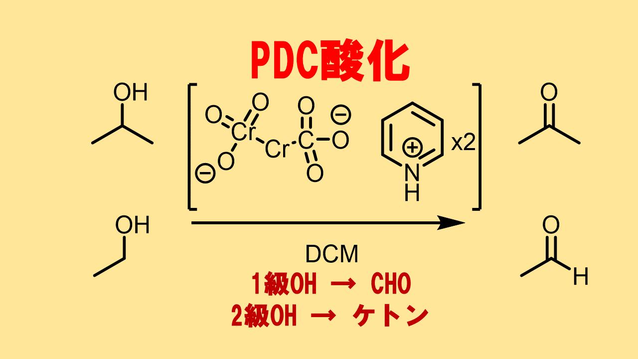 PDC酸化の特徴、反応機構、反応条件!DMF中はカルボン酸に