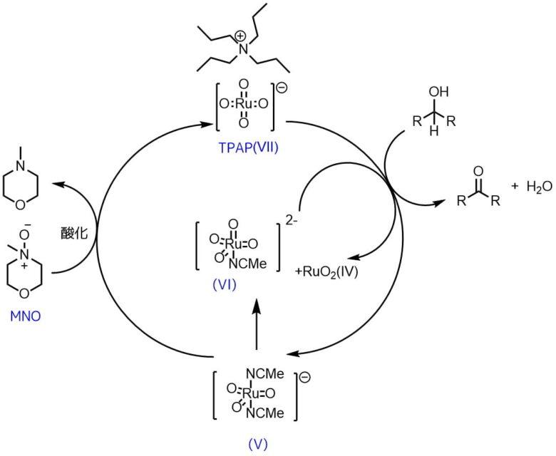TPAP酸化の推定反応機構