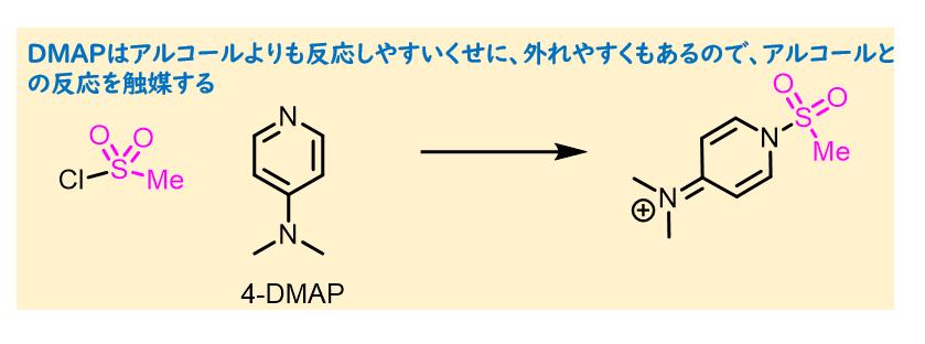 メシル化におけるDMAPの役割