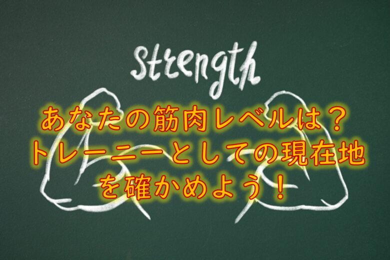 トレーニングスコアシート(筋トレ模試)