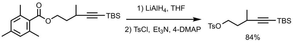 2,4,6-トリメチルベンゾイルクロリド基の脱保護反応例