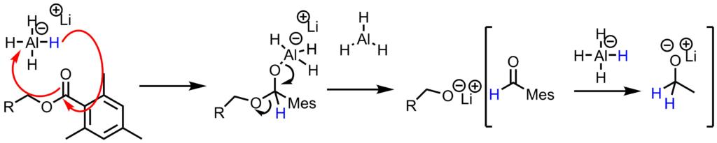 2,4,6-トリメチルベンゾイルクロリド基の脱保護反応機構