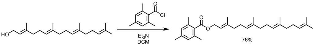 2,4,6-トリメチルベンゾイル保護反応例1