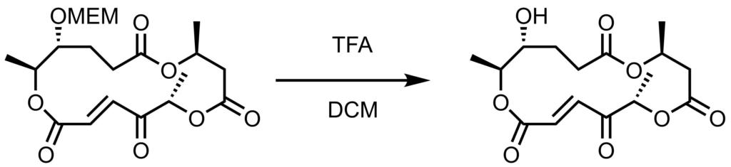 MEM脱保護反応例1