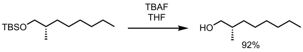 TBS脱保護反応例2