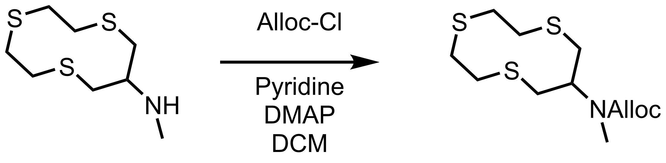 alloc保護の反応条件例1