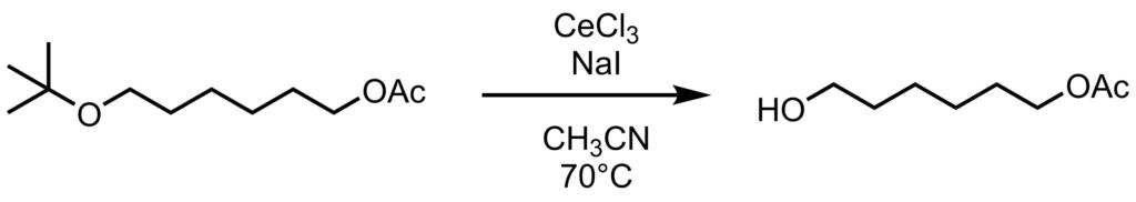 t-ブチル基の脱保護反応例1