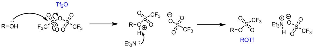 トリフラート化反応機構