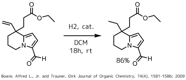 アルデヒド存在下オレフィンのクラブトリー触媒による還元