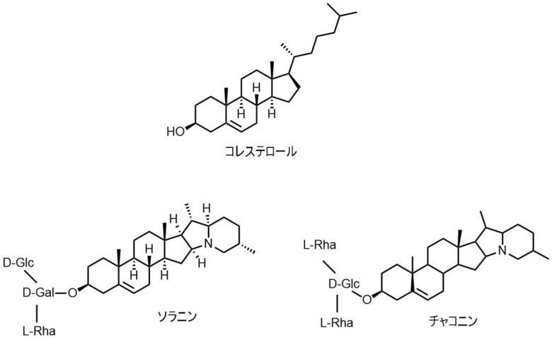ソラニンとチャコニンの構造式