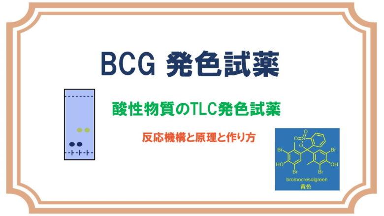 ブロモクレゾールグリーン(TLC)で酸性物質の検出