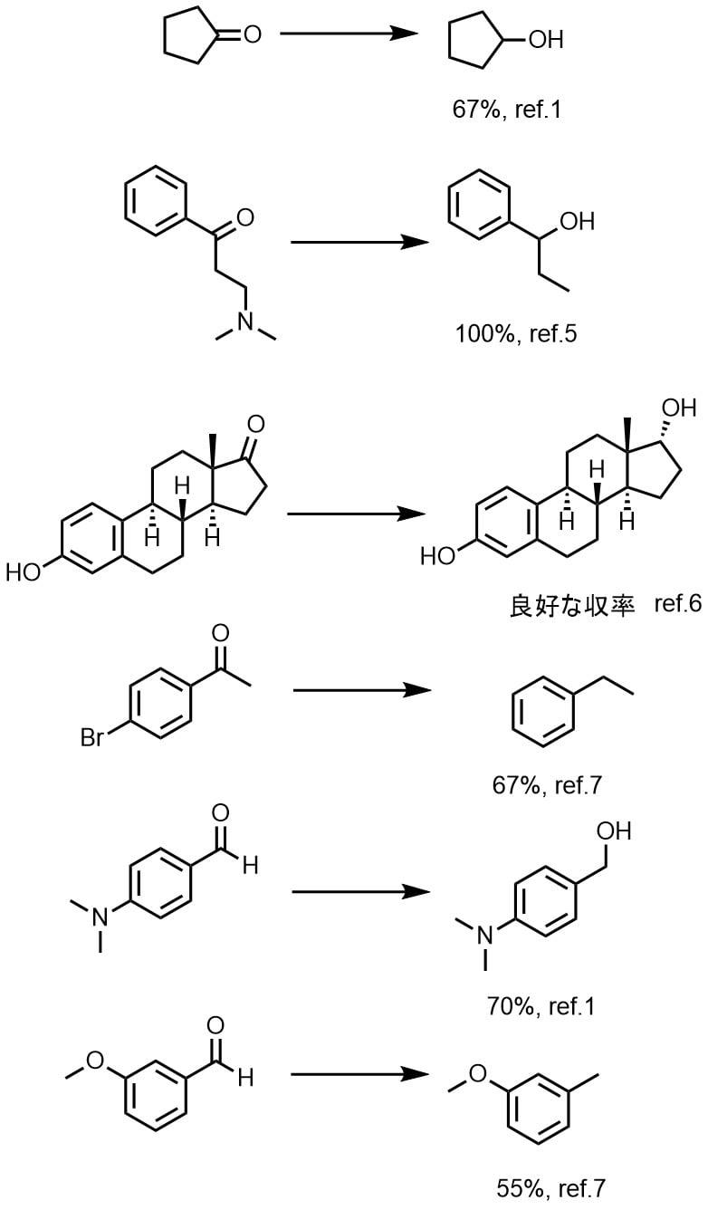 ラネーニッケルを使ったニトロ基、シアノ基、アゾ基のの還元