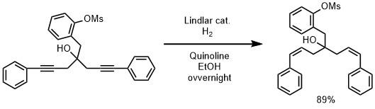 リンドラー触媒の反応例1