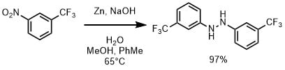 亜鉛と水酸化ナトリウムによるヒドラゾ基の合成
