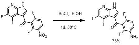 塩化スズを使ったニトロ基の還元