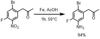 鉄と酢酸で還元