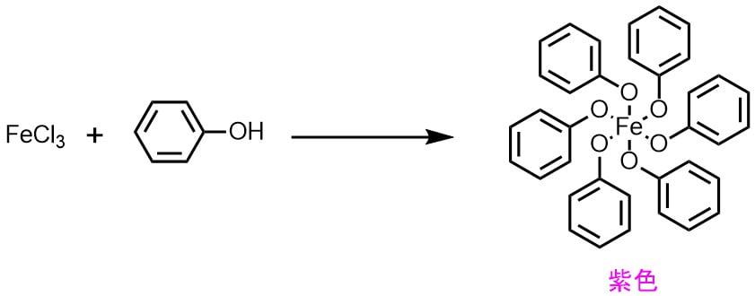 発色試薬FeCl3の呈色の機構・原理・メカニズム