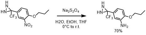 Na2S2O4によるニトロ基の還元