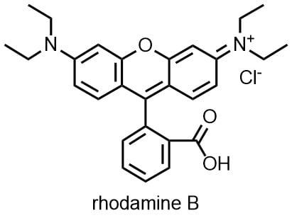 ローダミンBの構造