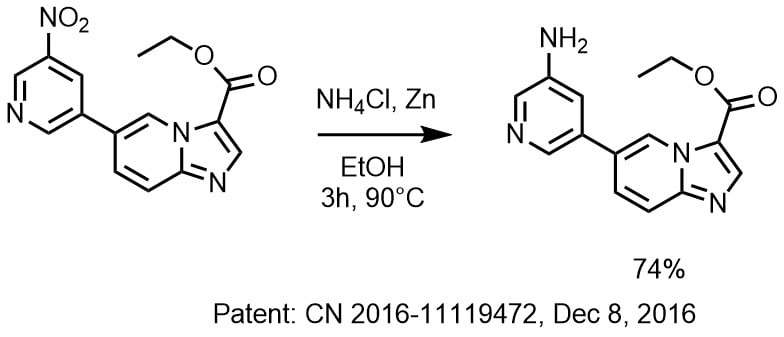 ZnとNH4Clによるニトロ基の還元
