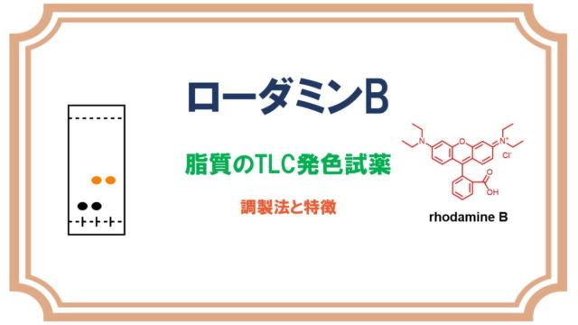 ローダミンBのTLC検出試薬
