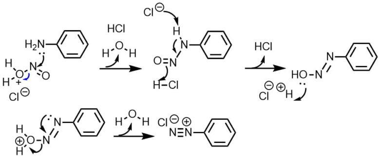 ジアゾニウム塩反応