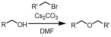 炭酸セシウムのアルキル化