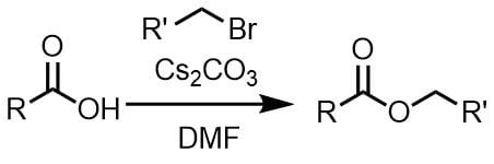 炭酸セシウムのカルボン酸のアルキル化