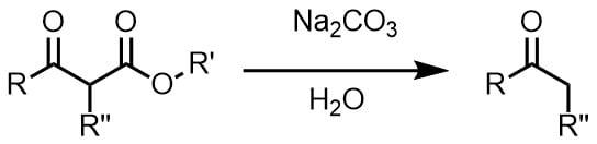 炭酸ナトリウムでケト酸の分解