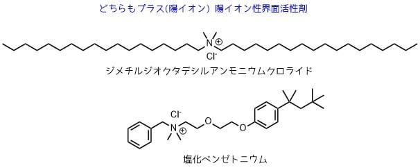 陽イオン界面活性剤の構陽イオン界面活性剤の構造