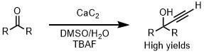CaC2によるプロパルギルアルコールの生成