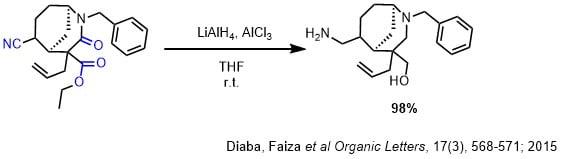 LiAlH4によるアミド、ニトリル、エステルの還元