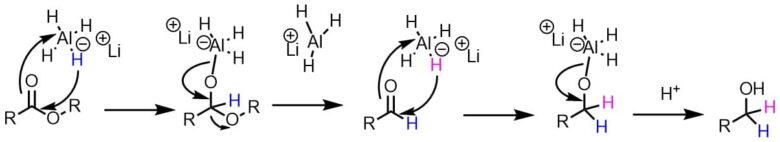 LAH還元の反応機構(エステル)