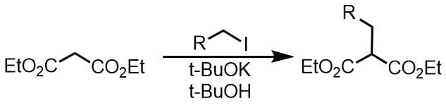 tBuOKを使ったジカルボニルのアルキル化