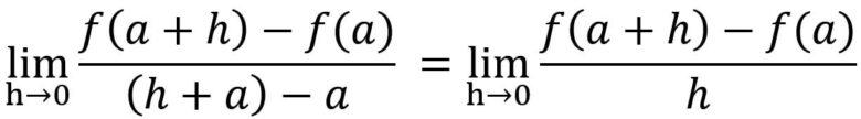 微分係数の一般式