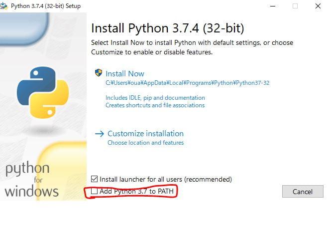 pythonインスト1