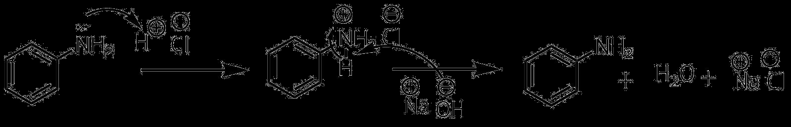アニリン塩酸塩からアニリンの生成