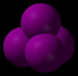 テトラヨードメタンの立体構造
