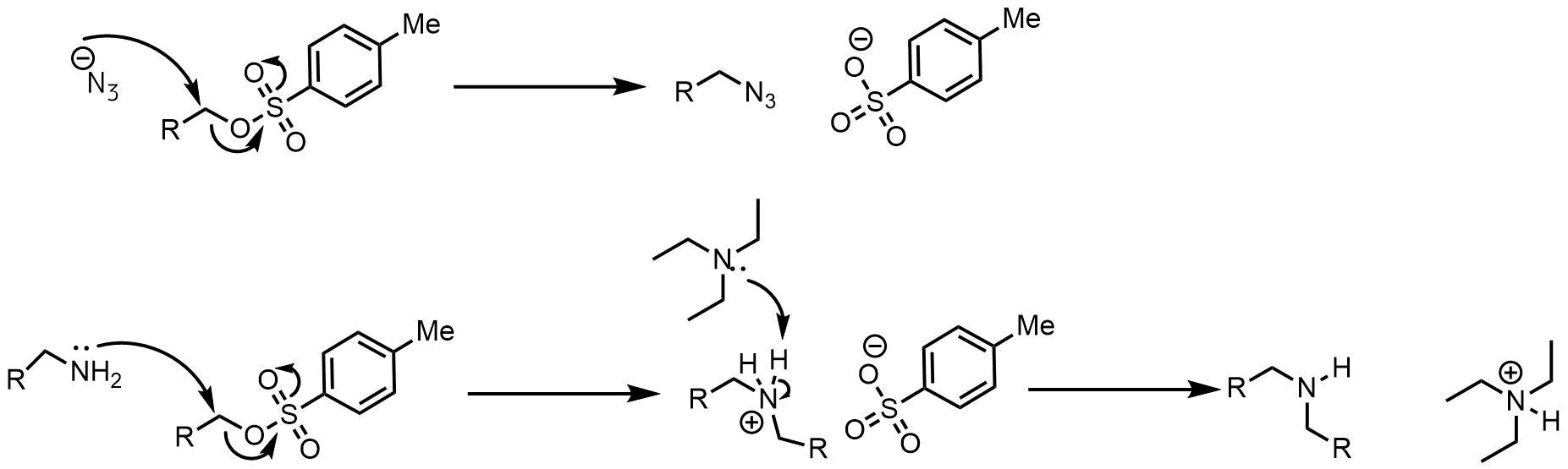 トシル体のSN2反応
