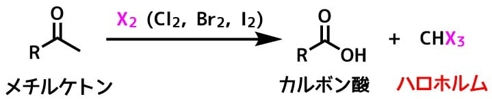 ハロホルム反応の例