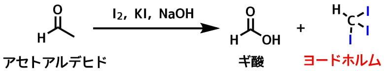 ヨードホルム反応の反応式