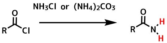 第一級アミドの合成