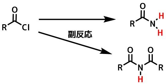 酸塩化物の副反応