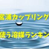 鈴木宮浦カップリング反応の溶媒